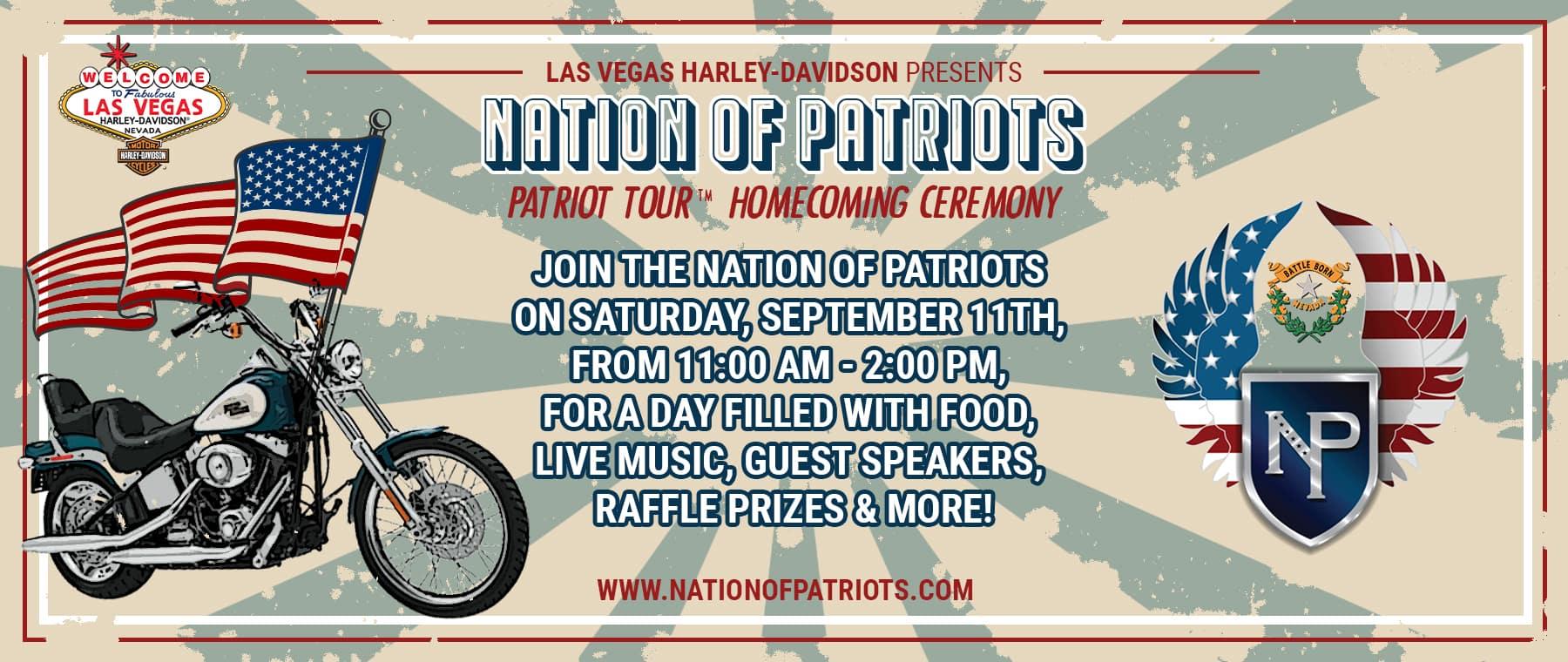 Website Banner – Nation of Patriots Event
