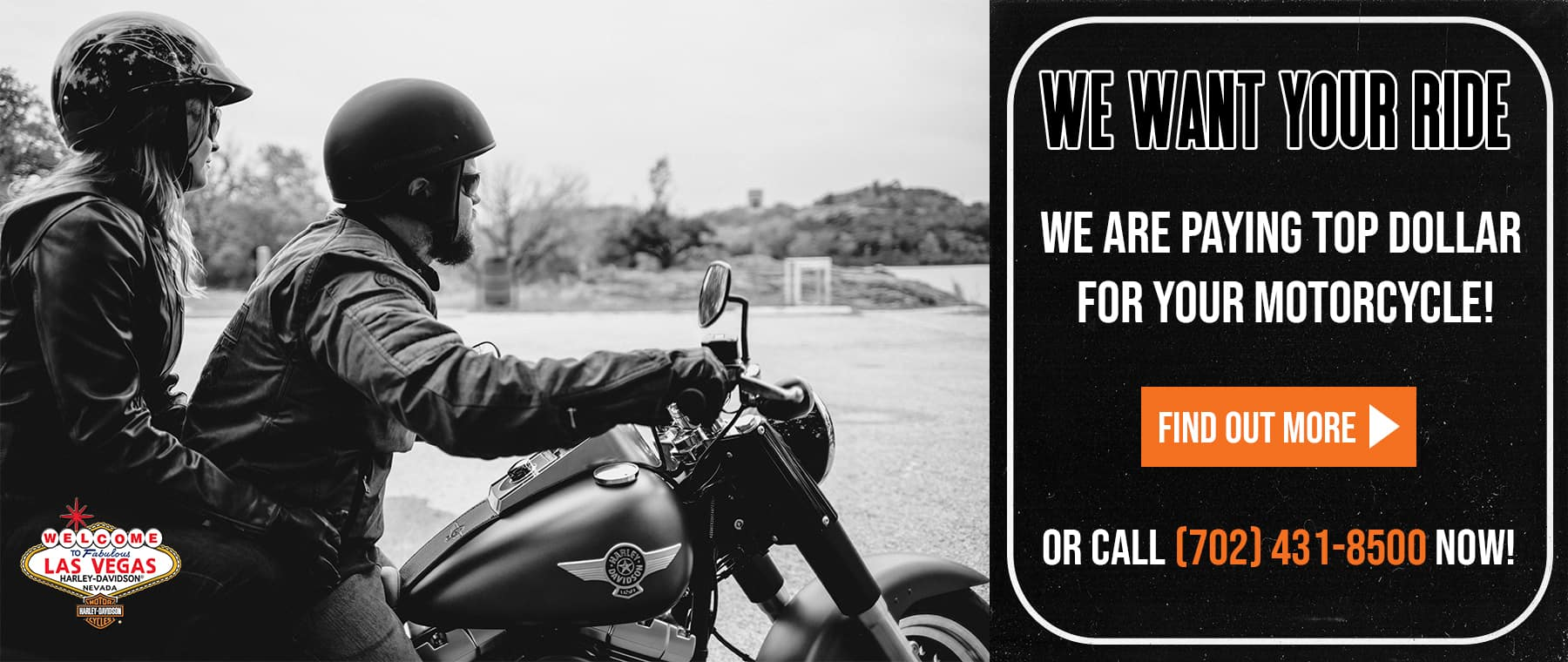 Website Banner – We Want Your Ride