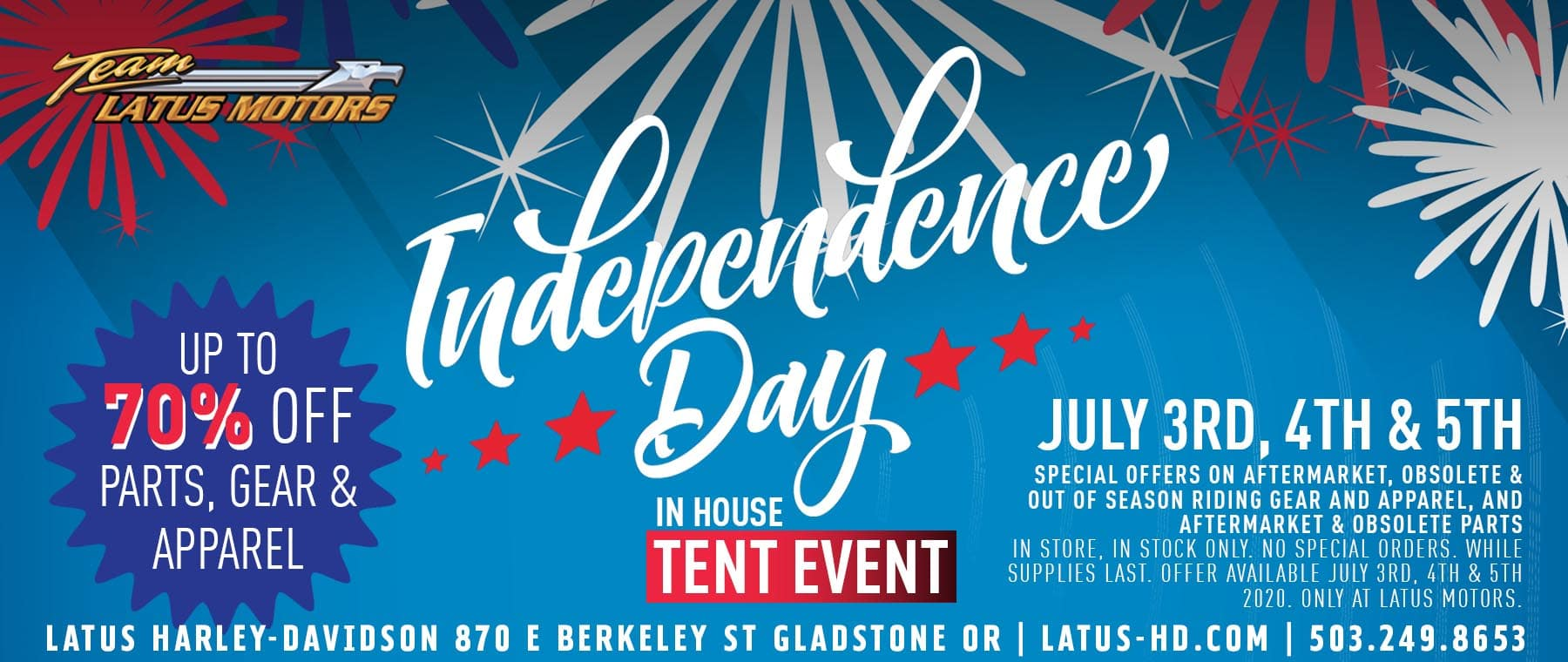 Latus Motors Independence Day In-house Tent Event