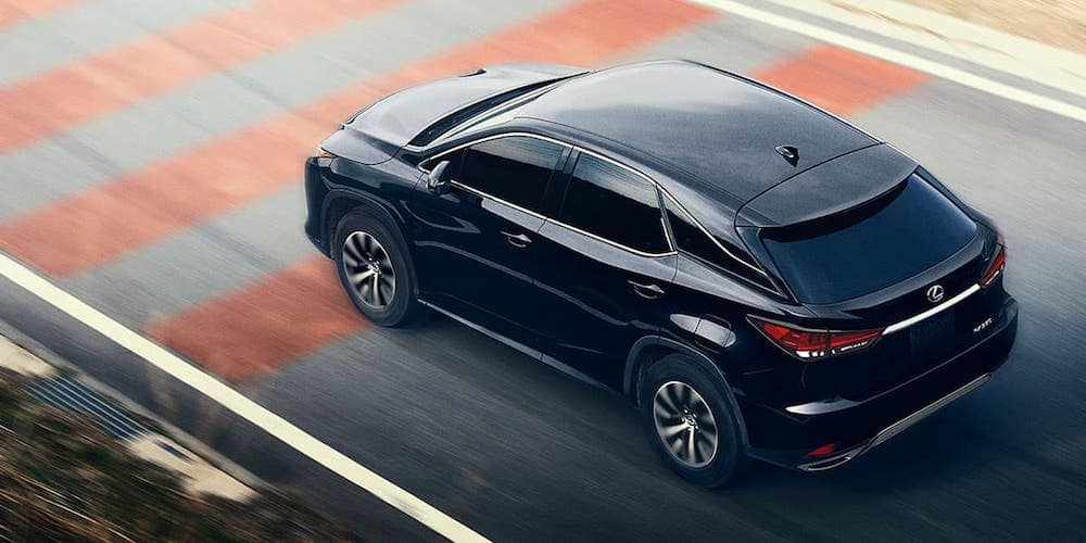 Black 2020 Lexus RX 350 on Test Track