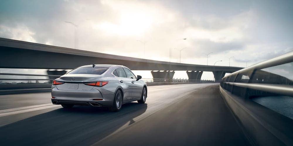 Silver 2020 Lexus ES 350 on Highway