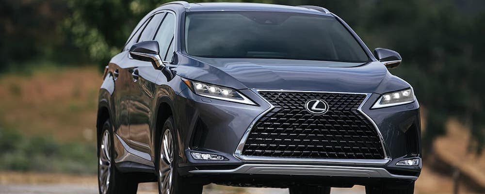 Silver 2020 Lexus RX 350 Parked on Road