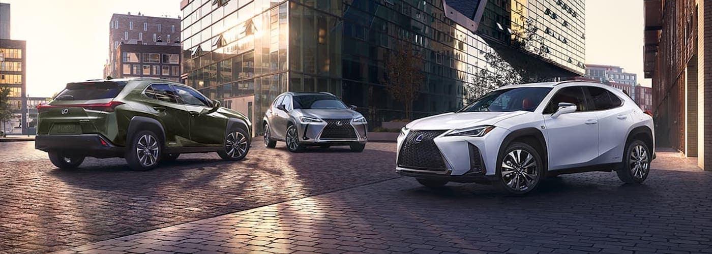 2020 Lexus UX Models Parked