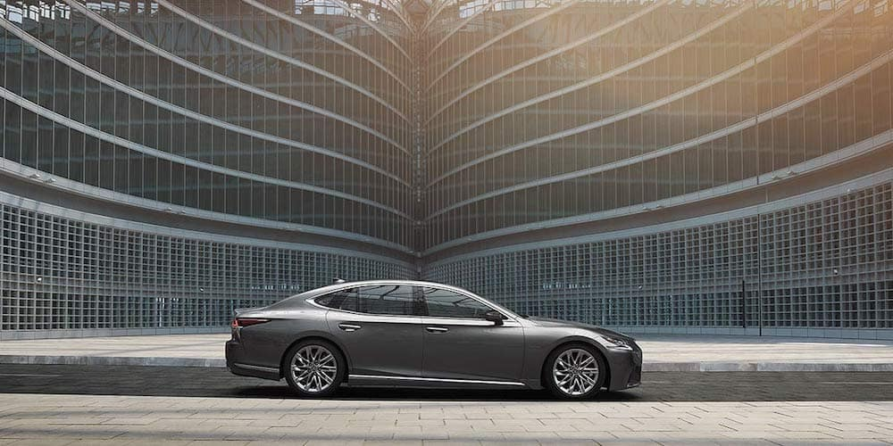 Silver 2020 Lexus LS Parked on Street