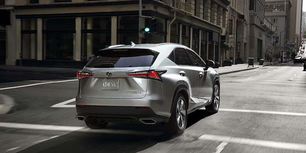 Silver 2020 Lexus NX on City Road