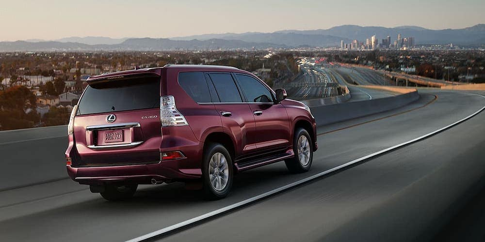Red 2020 Lexus GX 460 on Highway