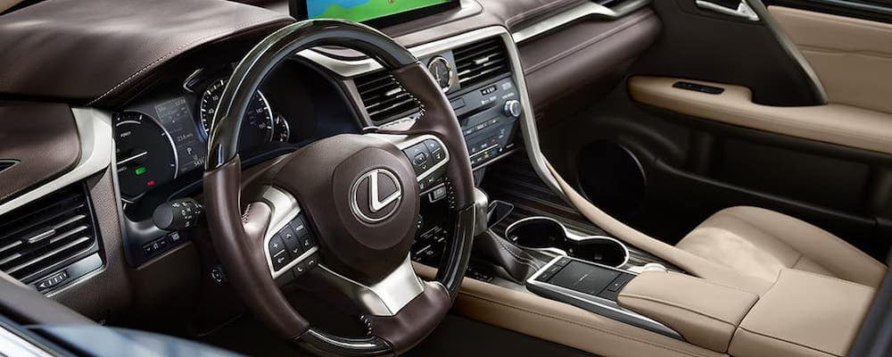 2020 Lexus RX Front Interior and Dashboard