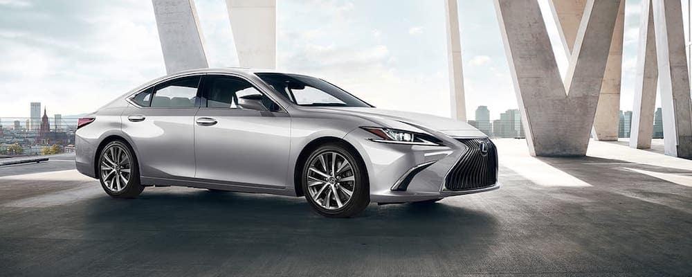 Metallic Silver 2020 Lexus ES Parked