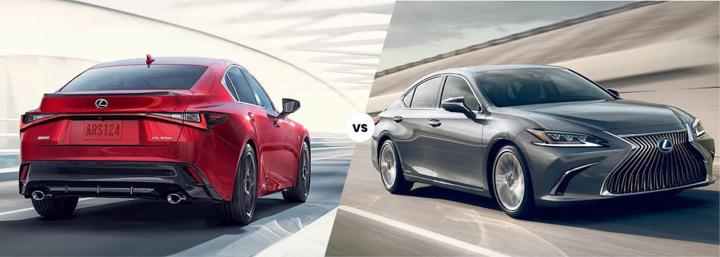 2021 Lexus IS 350 F Sport vs. 2021 Lexus ES