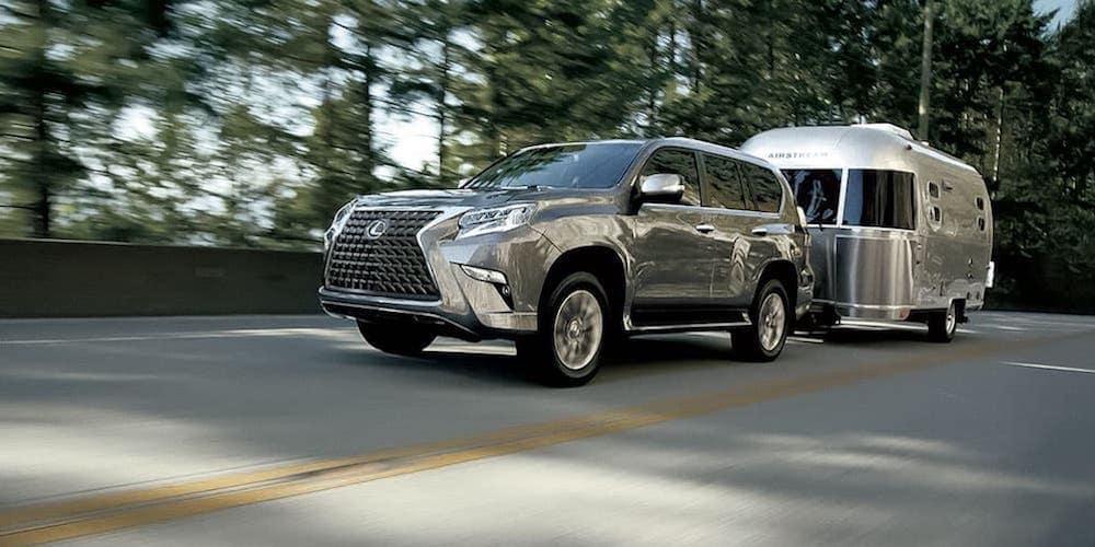 Silver 2020 Lexus GX Towing Trailer