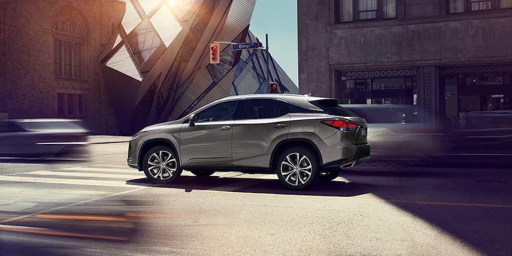 Silver 2020 Lexus RX on City Street