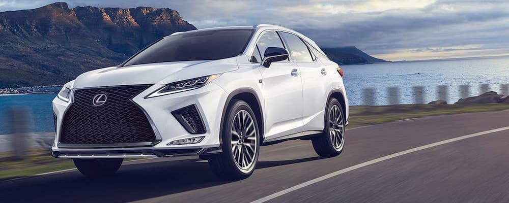 White 2020 Lexus RX on Highway