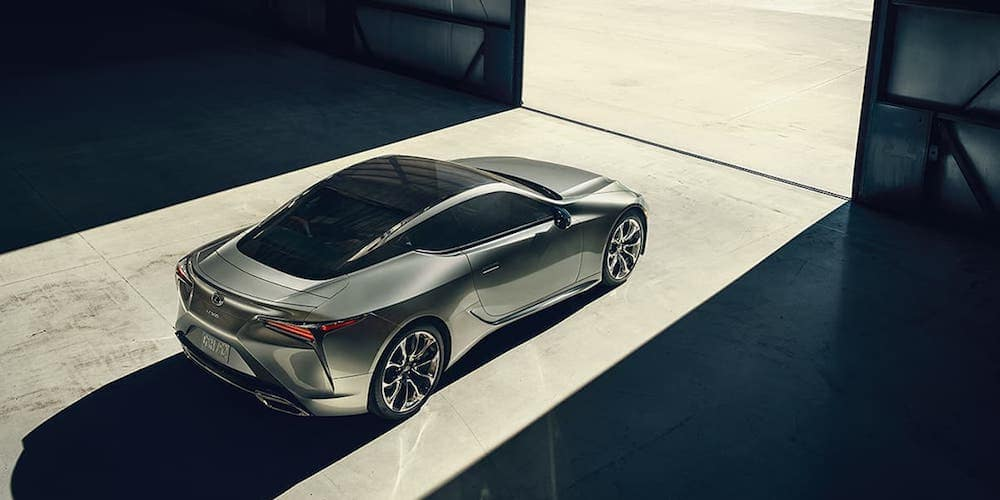 2020 Silver Lexus LC Parked
