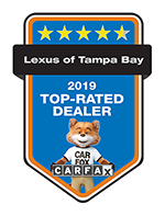 Lexus of Tampa Bay is a 2019 Top-Rated Dealer from Carfax