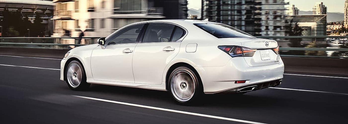 2020 White Lexus GS on Highway