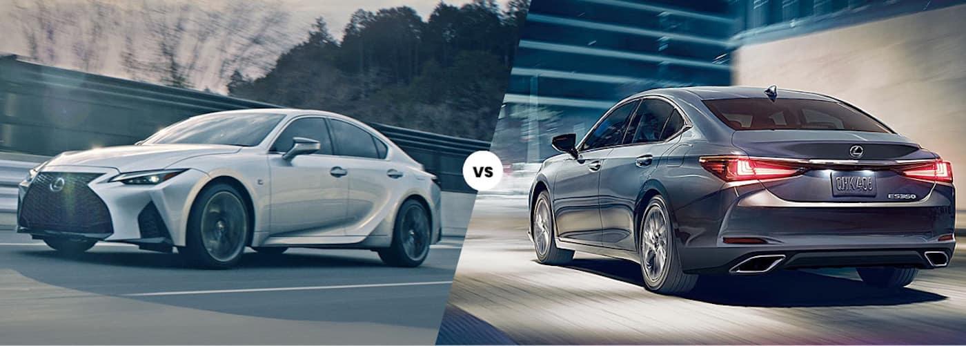 2021 Lexus IS vs. 2021 Lexus ES