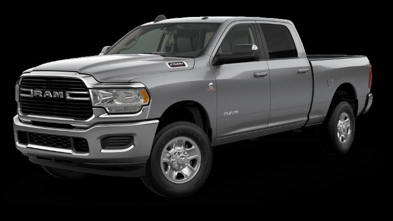 A silver 2019 Ram 2500 Big Horn