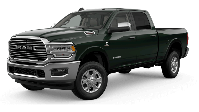 A Black Forest Green 2019 Ram 2500 Laramie