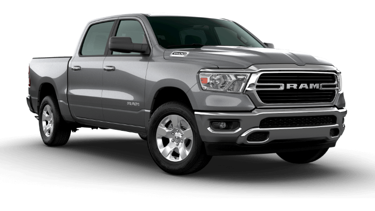 A grey 2020 Ram 1500 Big Horn