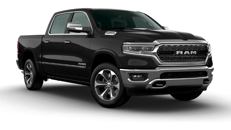 A black 2020 Ram 1500 Limited