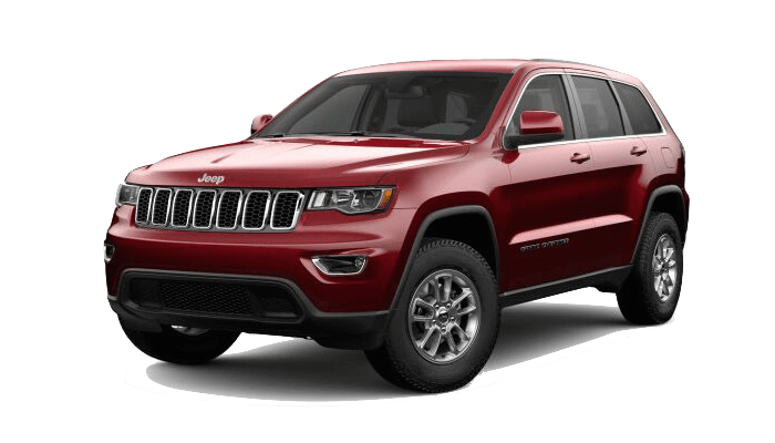 A red 2019 Jeep Grand Cherokee