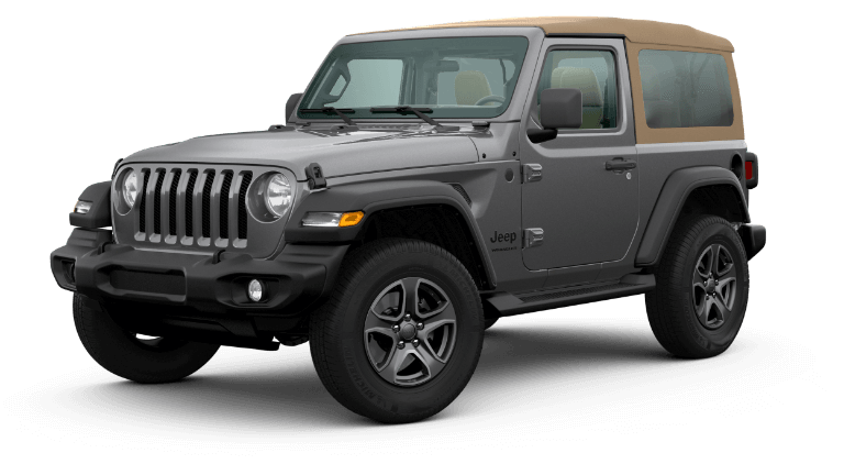 A black & tan 2020 Jeep Wrangler Black & Tan