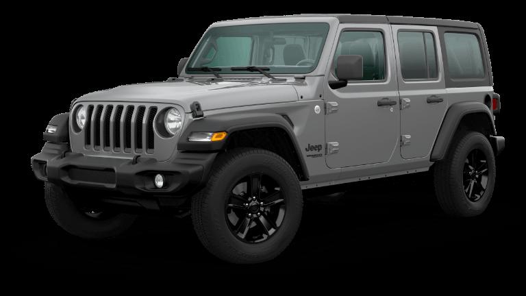 A gray 2020 Jeep Wrangler Sport Altitude