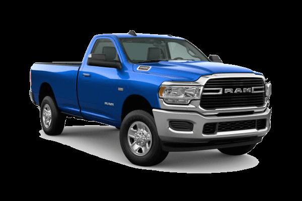 A blue 2020 Ram 2500 Big Horn