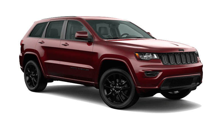 A red 2020 Jeep Grand Cherokee Altitude