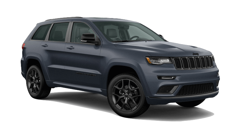 A blue 2020 Jeeep Grand Cherokee Limited X