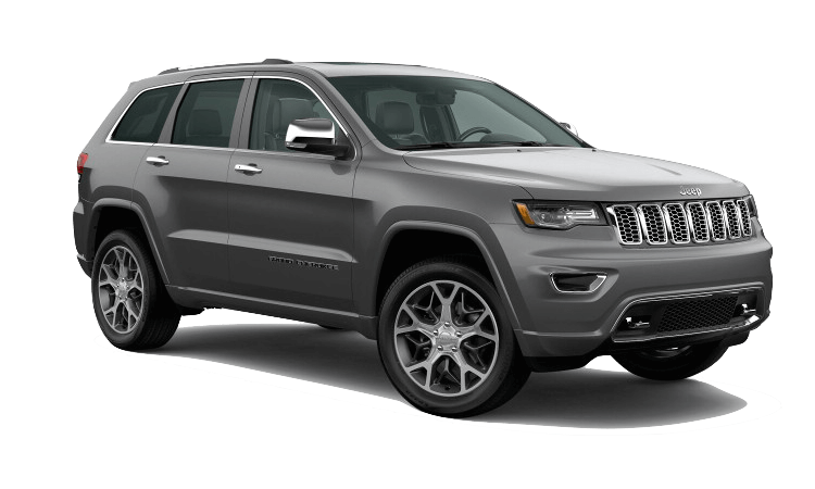 A silver 2020 Jeep Grand Cherokee Overland