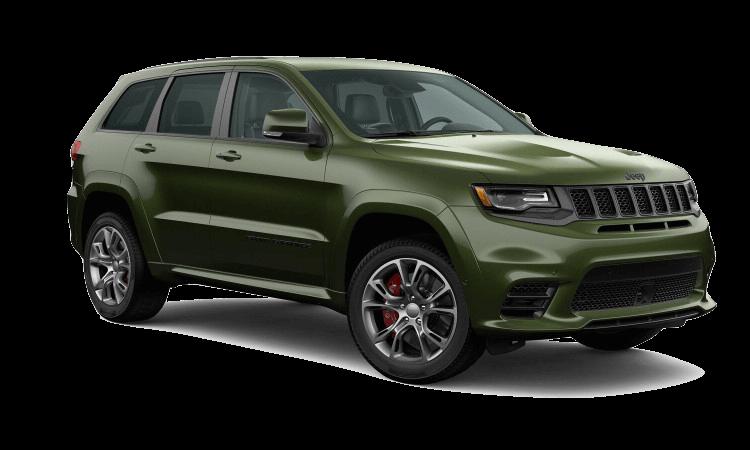 A green 2020 Jeep Grand Cherokee SRT