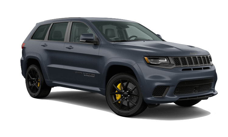 A blue 2020 Jeep Grand Cherokee Trackhawk