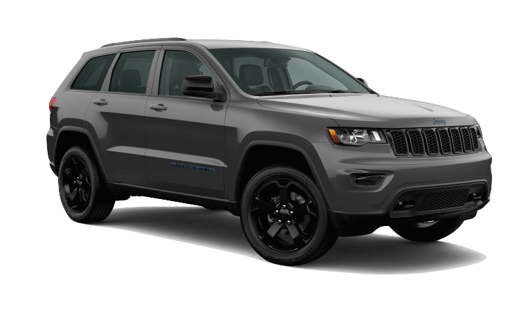 A grey 2020 Jeep Grand Cherokee Upland