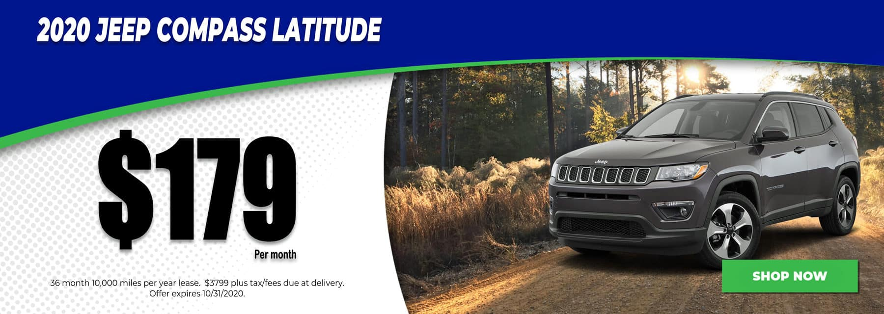 2020 Jeep Compass $179 per month in Mukwonago Wisconsin