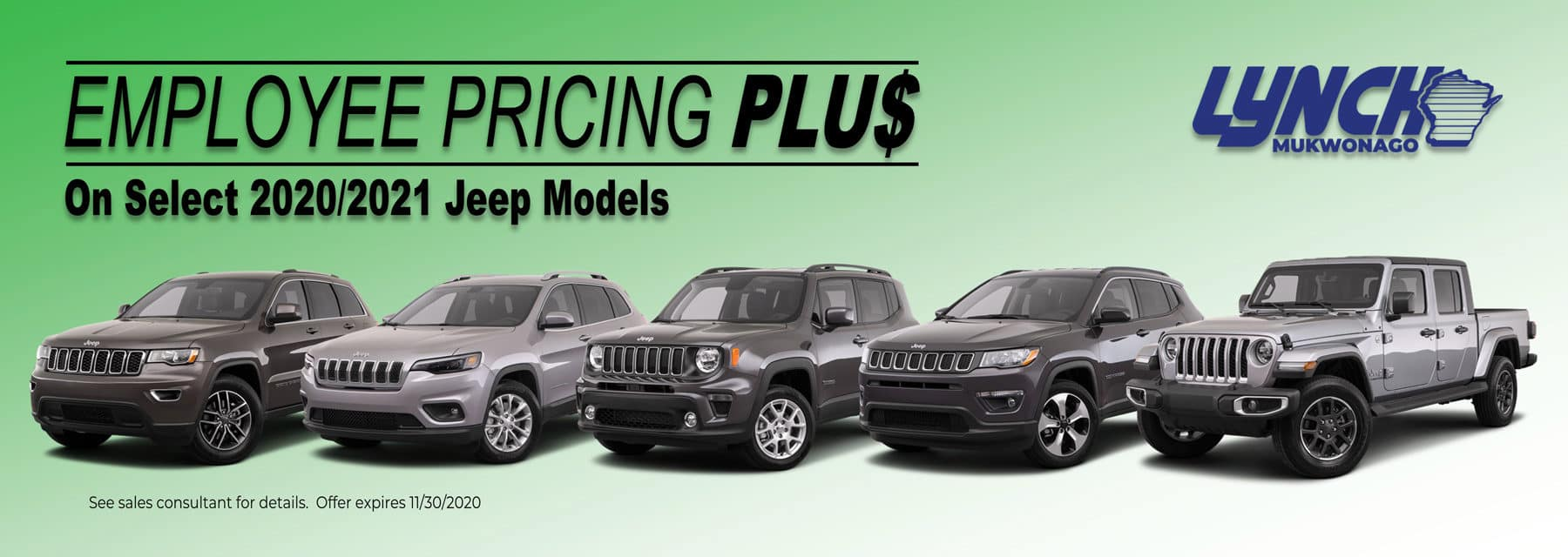 Employee Pricing Jeep Models Nov 2020 Dealer Inspire 1800X640
