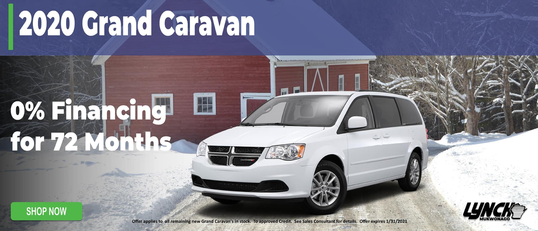 0% Financing for 72 Months on Grand Caravan in Mukwonago WI