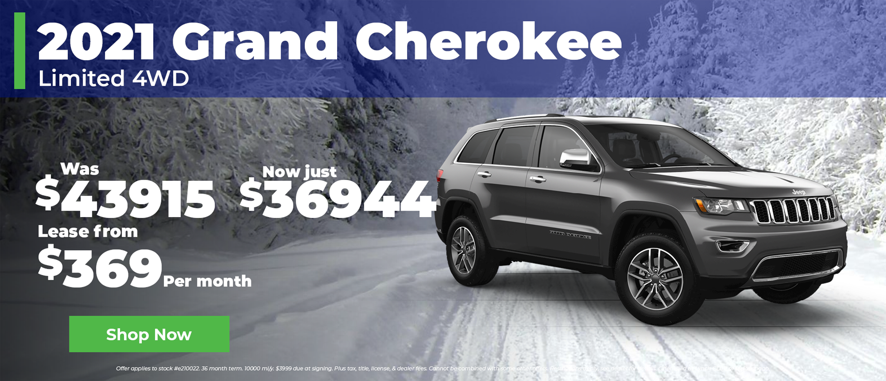 2021 Jeep Grand Cherokee $369 per month in Mukwonago WI