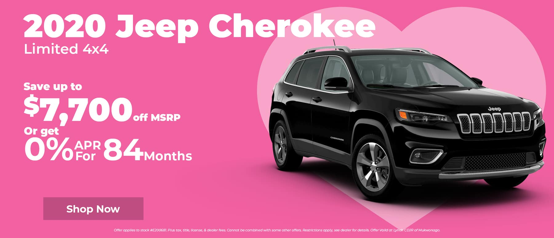 Save $7,700 on new Jeep Cherokee in Mukwonago WI