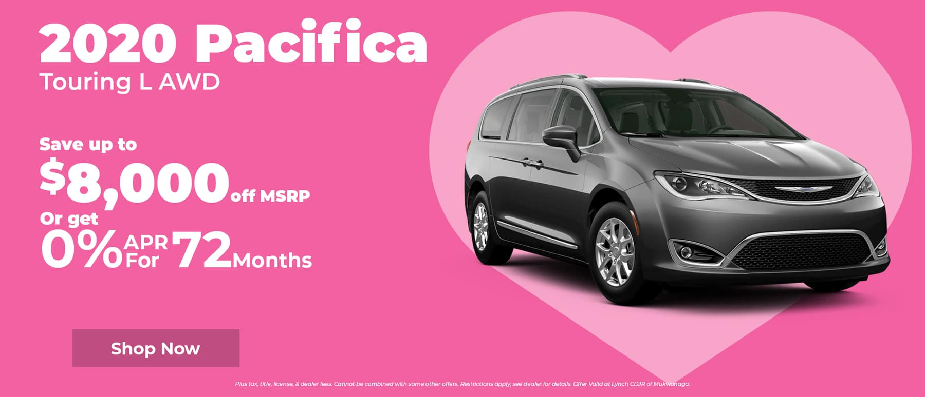Save $8,000 on Chrysler Pacifica in Mukwonago WI
