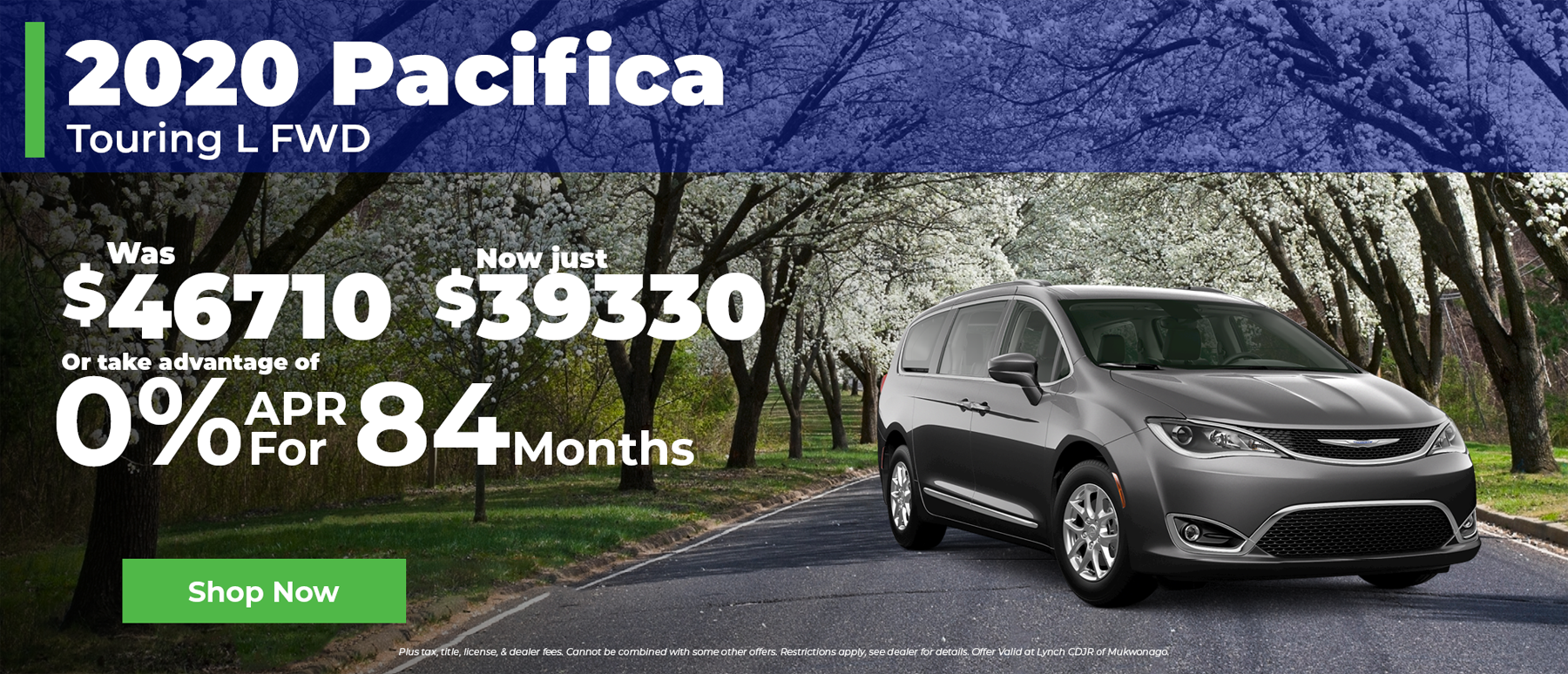 2020 Chrysler Pacifica 0% Financing for 84 months in Mukwonago WI