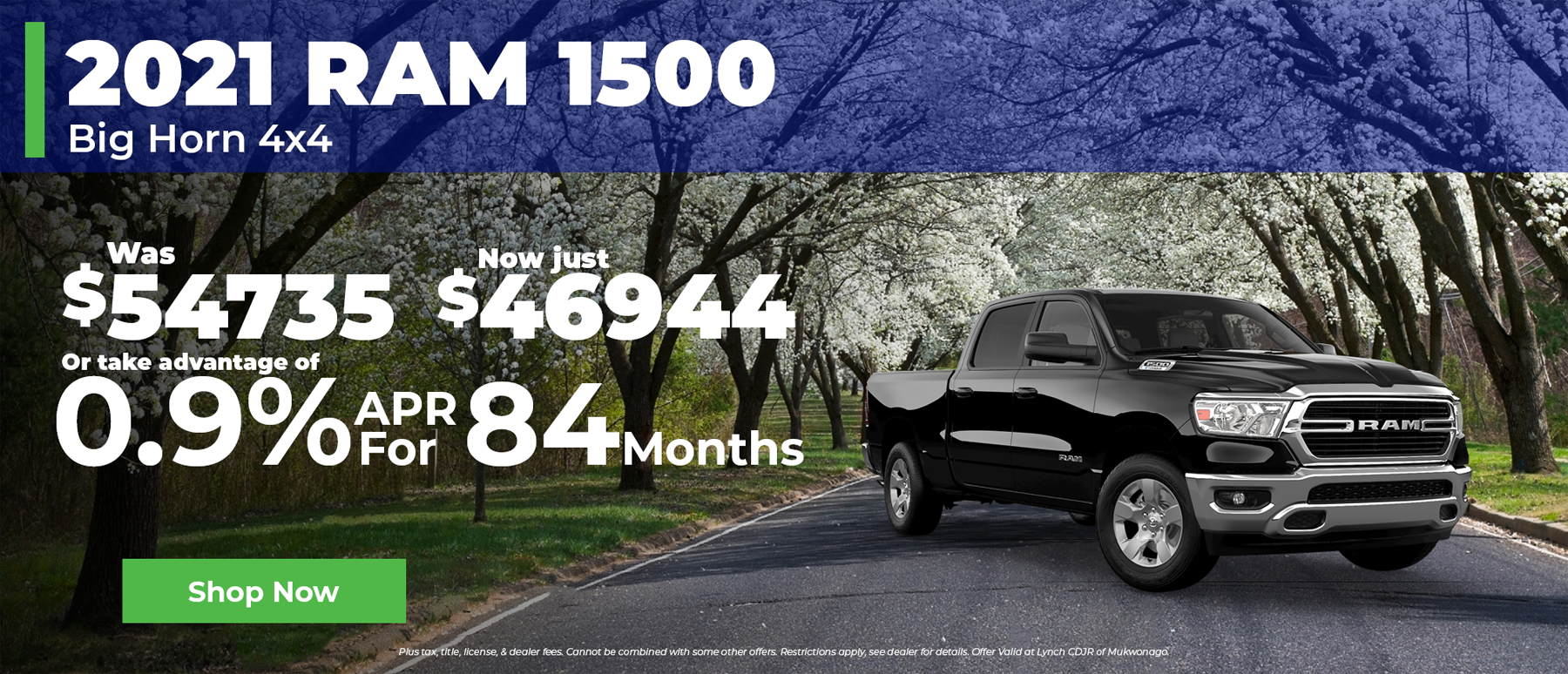 0.9% Financing for 84 Months on 2021 Ram 1500 in Mukwonago WI