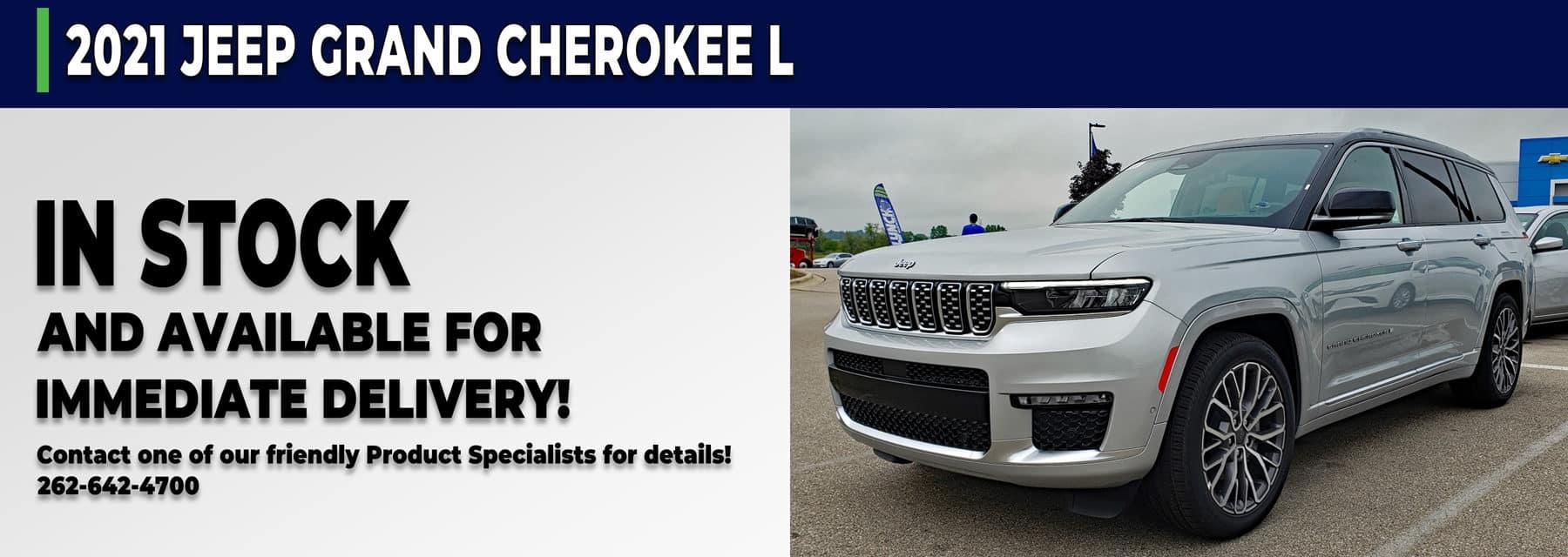 Grand Cherokee L in stock in Mukwonago Wisconsin
