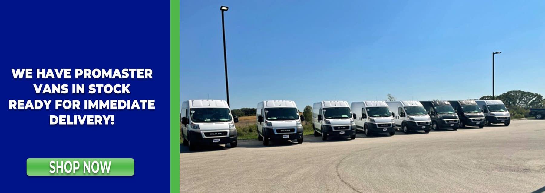 ProMaster Vans in stock in Mukwonago Wisconsin