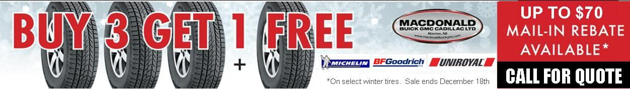 buy three tires get one free special