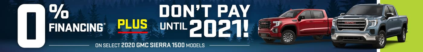 0% Interest and Don't Pay Until 2021 Select 1500 Trucks