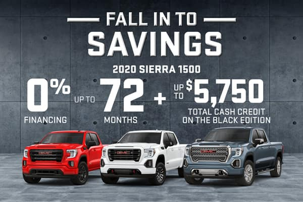 GMC Fall Into Savings
