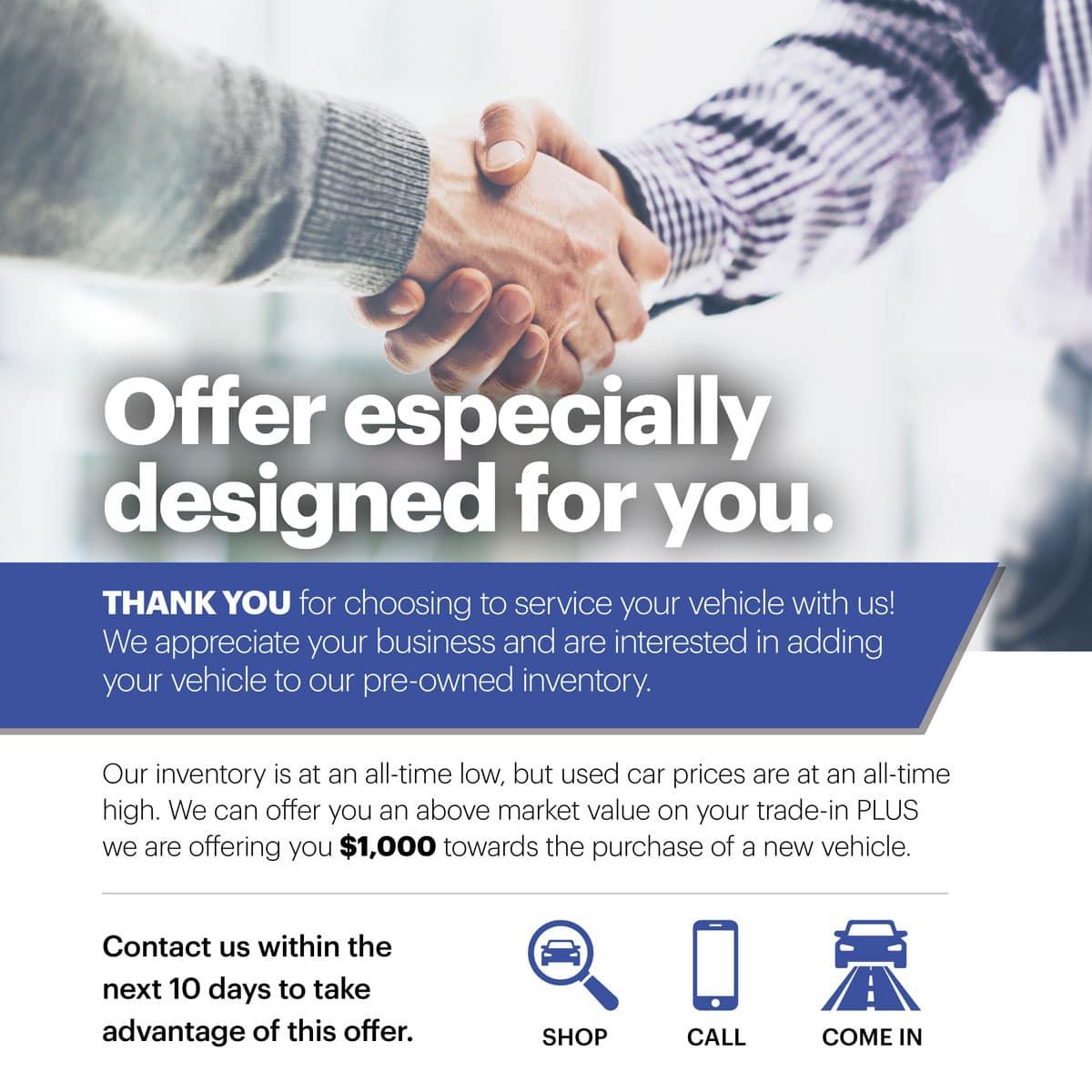 Offer Designed For You