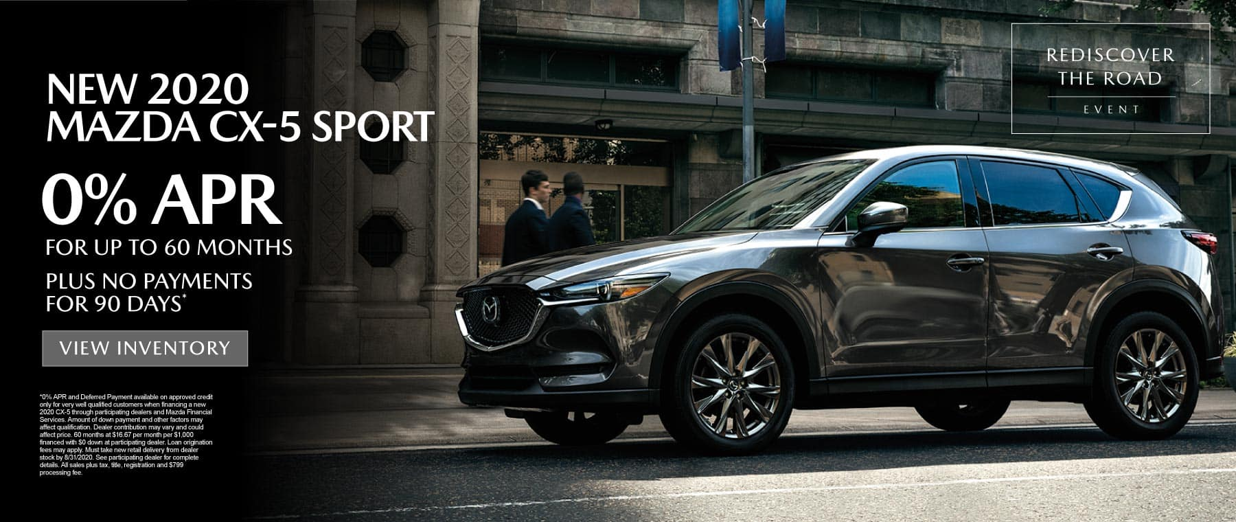 New 2020 Mazda CX-5 - 0% APR for up to 60 months* - Click to View Inventory