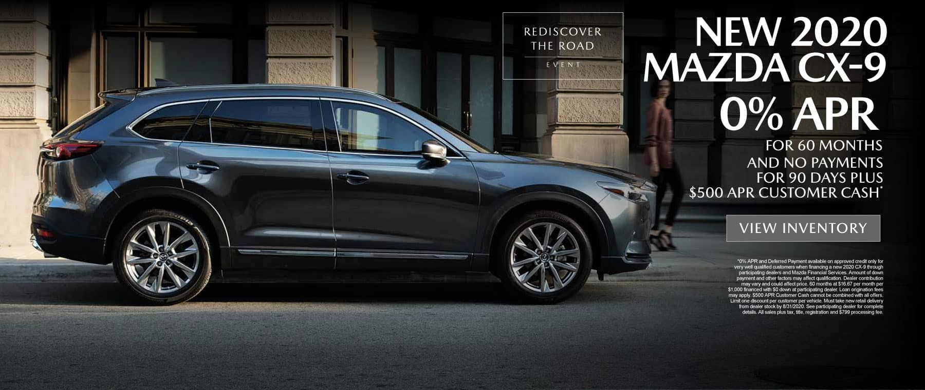 New 2020 Mazda CX-9 - 0% APR for 60 months* - Click to View Inventory